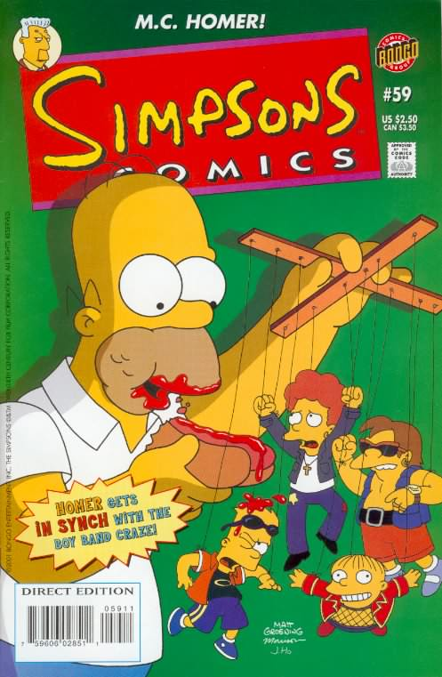 ~~~/> Bart Simpson COMIC #10 ~ Ridiculing APU Cover